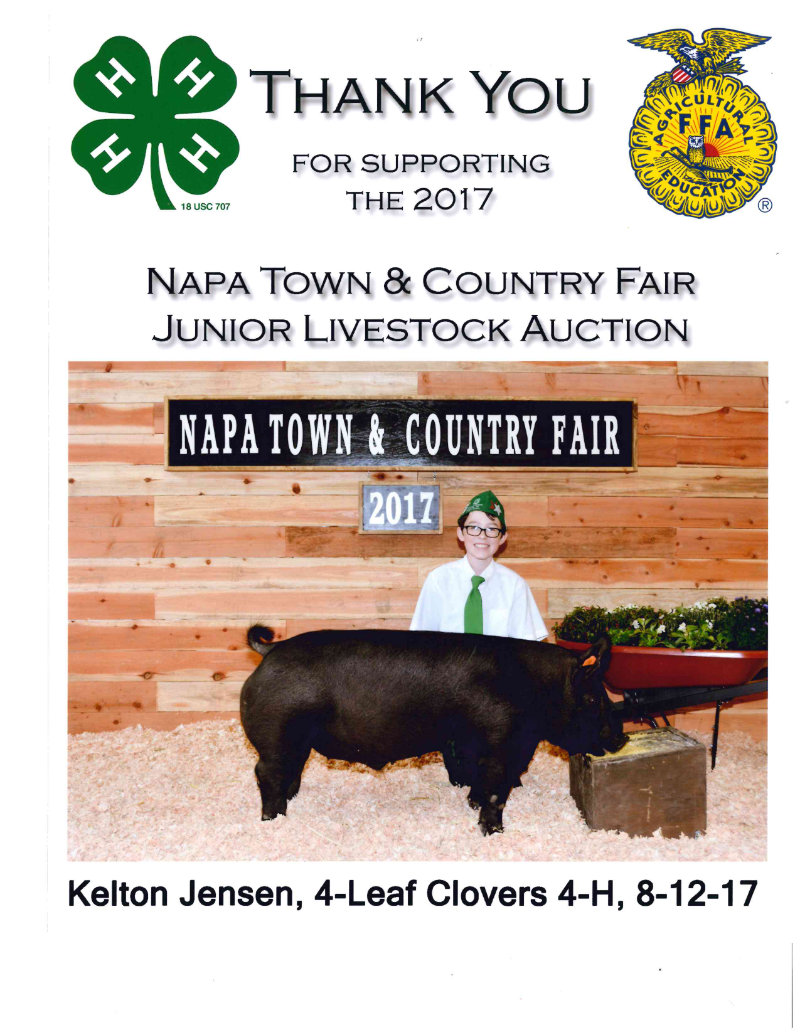 Thank You for Supporting The Napa Town & Country Fair